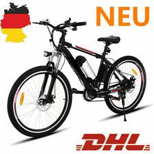 "26"" BICICLETTA a pedalata assistita e-bike 250w 21-Speed Mountain BIKE CITYBIKE con LED-Luci"