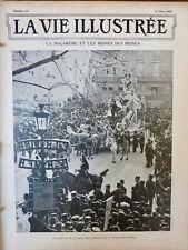 1902 CARNAVAL MI-CAREME REINE CORTEGE CHAR CHEVAUX FOULE