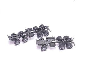 1:87 EM335 2x Allrad Chassis 6x6 / 8x8 grau mit Memo Teilen für Umbau Eigenbau