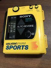 VINTAGE SONY WALKMAN AM/FM SPORTS WM-F 73 AUTO REVERSE FOR REPAIR