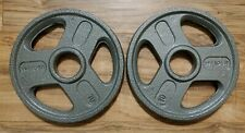 10 lb Weight Plate Set (20lbs Total) NEW Weider Olympic Plates -Quality Pair !!