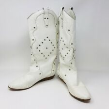Vintage Town & Country White Boots Majorette Style 1980's