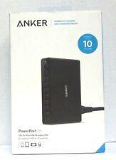 Anker PowerPort 10 (60W 10-Port USB Charging Hub) Multi-Port USB Charger (Black)