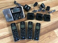 New ListingPanasonic Kx-Tg7871 4 Handsets Link2Cell Bluetooth Enabled Phone Answering Euc!