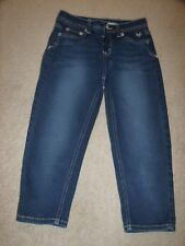 JUSTICE SKINNY JEAN CAPRIS GIRL'S SIZE 12R SIMPLY LOW GREAT 4 BACK 2 SCHOOL EUC