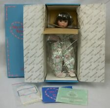 "Knowles 14"" Porcelain Doll Me and My Blankie - My Closest Friend - Nrfb w/ Coa"