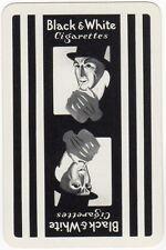 Playing Cards 1 Swap Card - Old BLACK & WHITE Cigarettes Top Hat Man Smoking