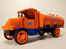 Ertl #7652 Mack 1926 Bulldog Gulf Oil Tanker 1:38 Scale Die Cast Bank