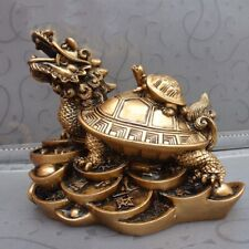 Fortune Lucky Chinese Feng Shui Dragon Turtle Tortoise Statue Home Decor Craft