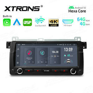 """XTRONS 8.8"""" Android 10 Car Stereo Radio GPS 4+64GB Head Unit For BMW E46 M3"""
