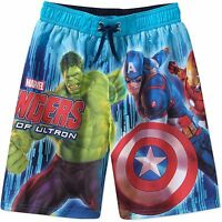 Marvel Avengers Captain America Hulk Ironman Swim Shorts Trunks Boy Size 6/7