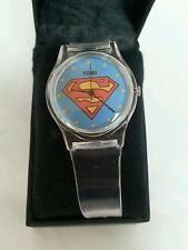Superman-Superman Insignia claro Chicos Reloj De Goma Reloj De Dc Comics Coleccionables