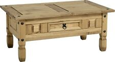 Seconique CORONA Distressed Mexican Pine 1 Drawer Coffee Table