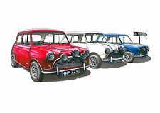 The Italian Job Mini Cooper S Greeting Card A5 size