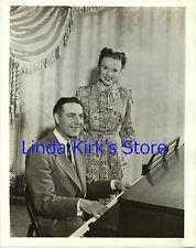 "Ted Mack & Adelaide Bishop Photograph ""Ted Mack Orig Amateur Hr"" ABC-TV 1956"
