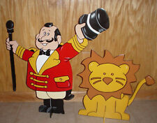 Circus ringmaster & lion stand up children's birthday party decorations