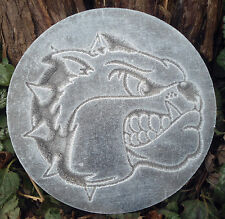 Bulldog mold garden ornament plaster concrete casting mould