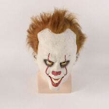 Men Halloween Cosplay Scary Latex Mask Costume Stephen King's IT Clown Pennywise