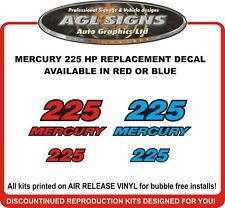 MERCURY 225 HP outboard  Replacement Decal