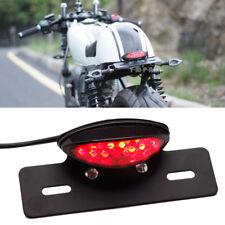 LED Brake License Number Plate Tail Light For Custom Cruiser Chopper Motorcycles