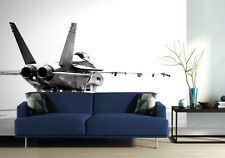 Wallpaper mural for living room & beedroom F18 fighter aircraft - jet - plane -