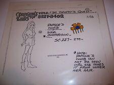 Rare Dragon's Lair Princess Daphne Model Cel - Original Cartoon Animation Art
