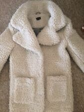 Topshop White Teddy Coat 10