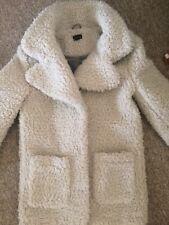 Topshop White Teddy Coat 10