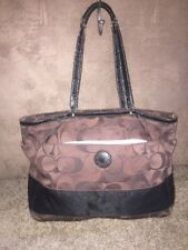 X Large Coach Signature C Tote Travel MultiFunction Baby Bag  F-20037 Brown