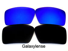 Galaxy Replacement Lenses For Oakley Eyepatch 1&2 Black&Blue Polarized 2Pairs
