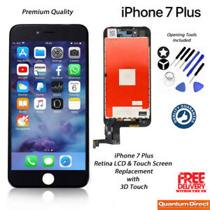NEW iPhone 7 Plus Retina LCD Digitiser Touch Screen Replacement AAA - BLACK