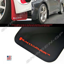 RALLY ARMOR UR MUD FLAPS FOR 2012-2017 VELOSTER TURBO & NON-TURBO BLACK / RED