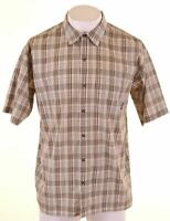 PATAGONIA Mens Shirt Short Sleeve Large Multicoloured Check Polyester  DF12