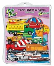 Little Folk Visuals Trucks Trains and Planes Felt Figures For Flannel Boards Add