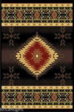 8x11 Area Rug Black Southwest Southwestern Design Medallion Southern Lodge New