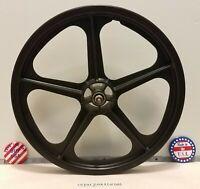 """SKYWAY U.S.A. TUFF WHEEL II  TUFF WHEEL 2 20"""" BMX Front MAG Wheel BLACK Vintage"""