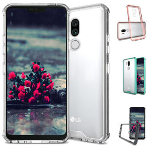 Dooqi For LG G7 ThinQ Hybrid Soft TPU Shockproof Bumper Clear Case Cover