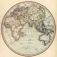 Eastern Hemisphere Africa Asia Europe Oceania Australia Japan c. 1850 Tegg map