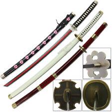 One Piece Sword Set 3 Katana Roronoa Zoro STEEL Shusui Yubashiri Sandai Kitetsu