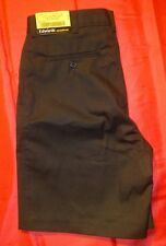 NEW NWT ! EDWARDS CASUALWEAR MENS SHORTS FLAT FRONT SIZE 32 BLACK KHAKIS
