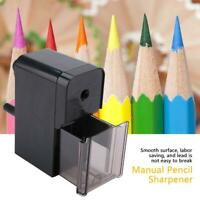 Pencil Sharpener Steel Cutter Hand-Crank Stationery Home School Desktop Student