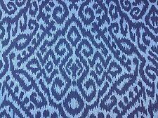 Clarence House Hill Brown  Linen Jute Multipurpose Fabric Rosseau Cobalt 6 yards