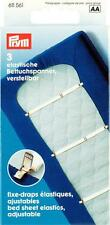 Prym 3 Betttuchspanner Bettlakenspanner Elastic 18 mm weiß verstellbar 611561