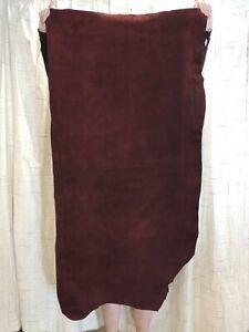 WINE BISON BUFFALO Leather Hide for Native Crafts Moccasins Buckskins Costumes