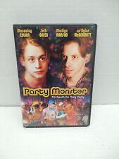 Party Monster Alig Club Kids Murder Story DVD Movie Marilyn Manson Sevigny