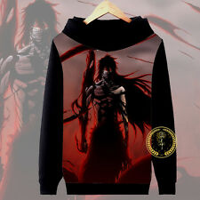 Anime Bleach Getsuga tenshou Ichigo Hoodie Jacket Pullover Coat Sweatshirt#8-MM7