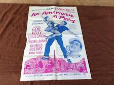 1963 An American In Paris Original Movie House Full Sheet Poster