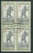 Tschechoslowakei Briefmarken 1983 Köstüme auf alten Stichen 4er Mi.Nr.2743