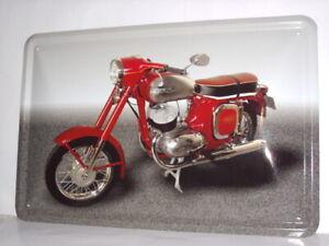 Blechschild Motorrad  Moped  Jawa DDR