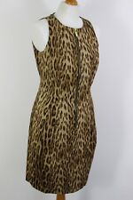 MICHAEL KORS Ladies LEOPARD PRINT Zip DRESS - Size US 8 - UK 12